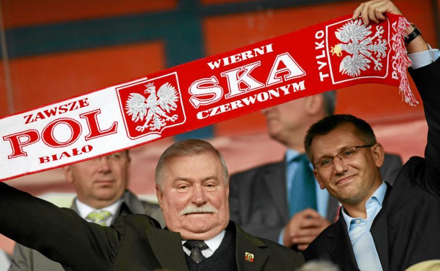 Krzysztof Kwiatkowski z Lechem Wałęsą