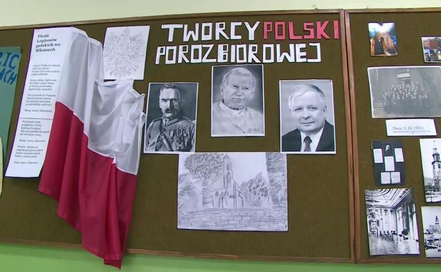 Papież, Piłsudski i Kaczyński jako \