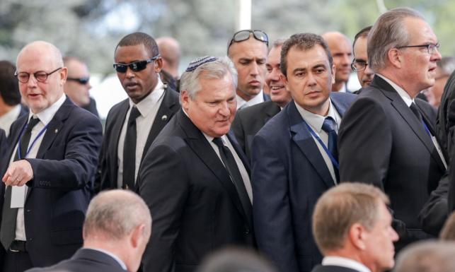 Duda, Kwaśniewski, Tusk, Obama, Hollande, Orban. Politycy z całego świata pożegnali Szimona Peresa