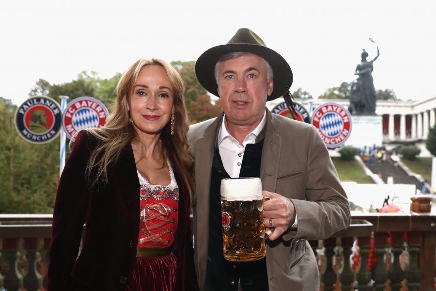 Carlo Ancelotti z żoną