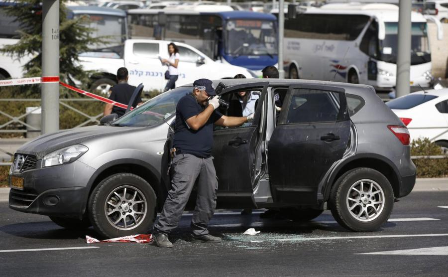 Izraelskie służby na miejscu ataku