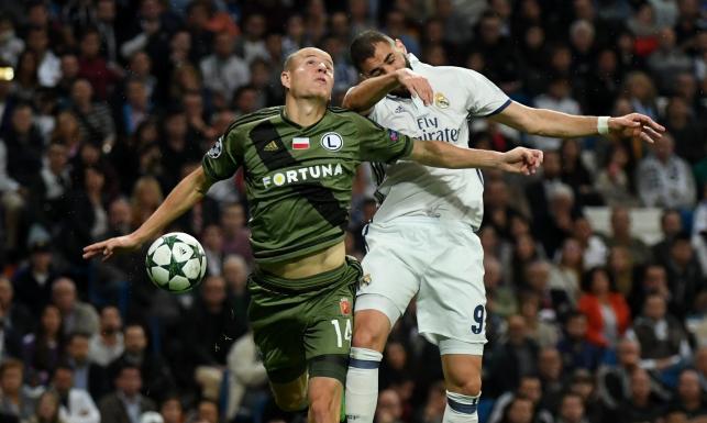Liga Mistrzów: Słupek, jeden gol strzelony i pięć straconych. To bilans Legii w meczu z Realem