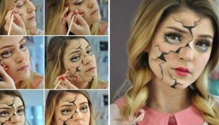 Makijaż na Halloween: Lalka z porcelany