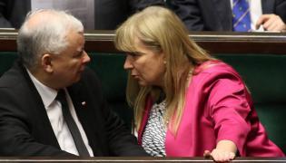 Jarosław Kaczyński i Małgorzata Gosiewska