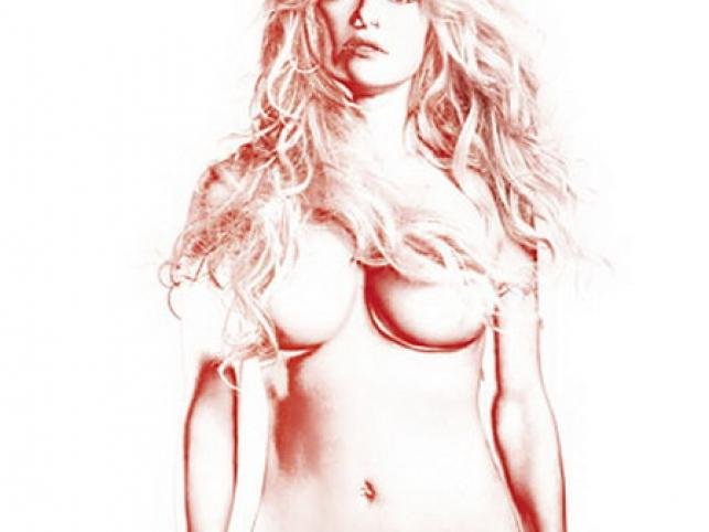 Naga Pamela Anderson obrobiona komputerowo