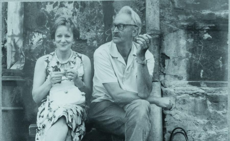 Wisława Szymborska i Kornel Filipowicz (Fot. z archiwum Fundacji Wisławy Szymborskiej)