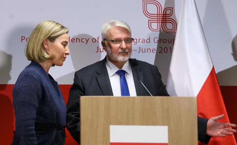 Witold Waszczykowski i Federica Mogherini