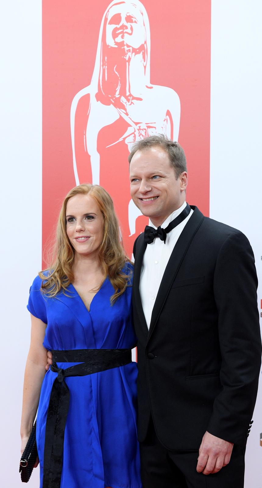 Maciej Stuhr i Katarzyna Błażejewska na gali Europejskie Nagrody Filmowe we Wrocławiu