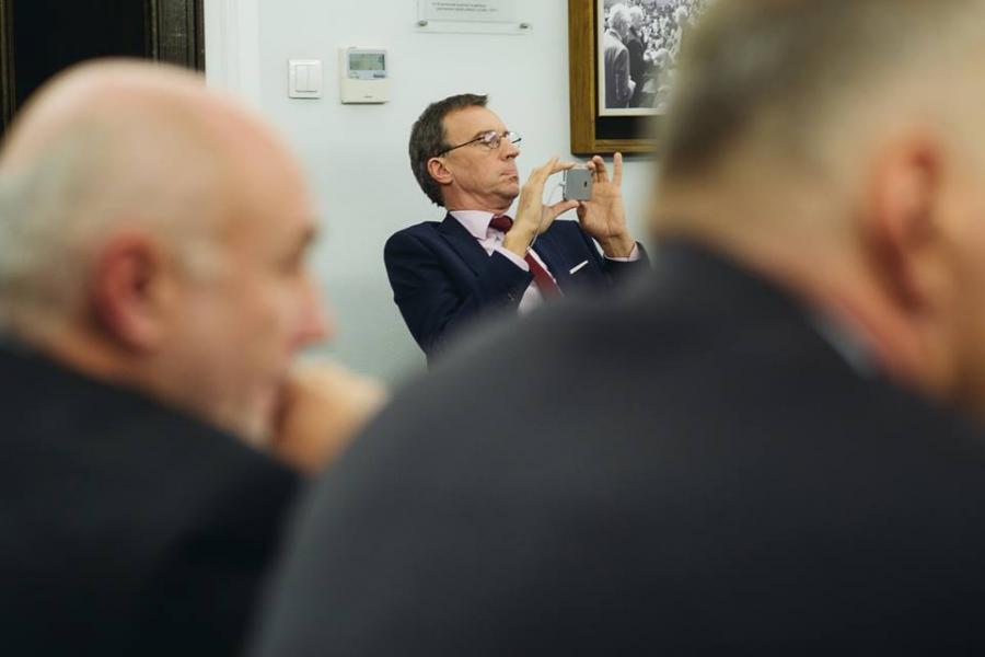 Andrzej Skworz na spotkaniu z marszałkiem Senatu Stanisławem Karczewskim
