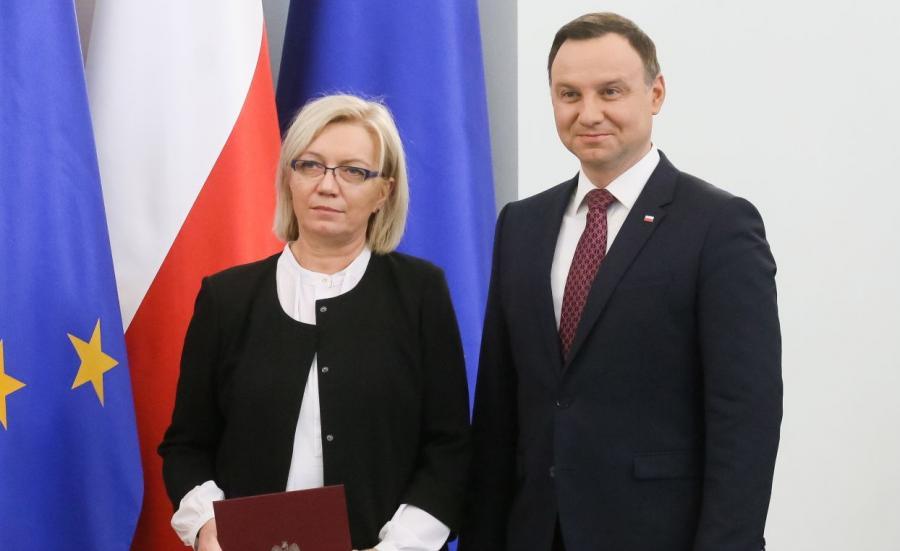Prezydent Andrzej Duda powołał sędzię Julię Przyłębską na prezesa Trybunału Konstytucyjnego