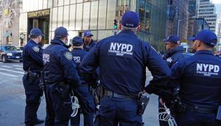 Policjanci w Nowym Jorku