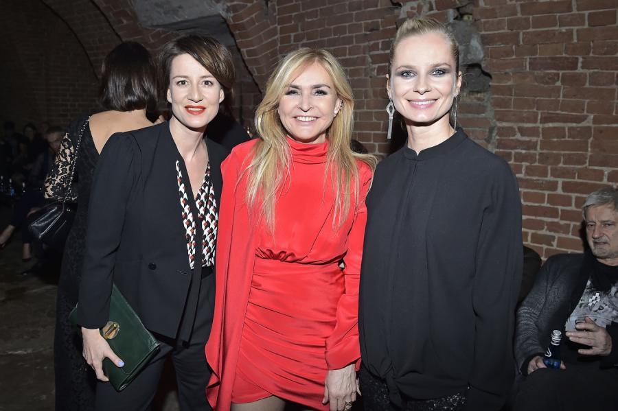 Maja Ostaszewska, Monika Olejnik i Magdalena Cielecka