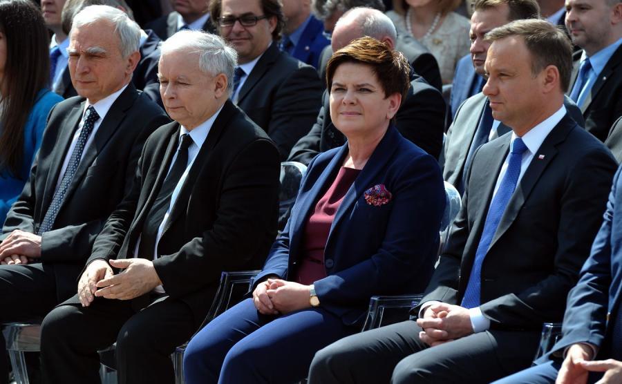 Jarosław Kaczyński, Beata Szydło i Andrzej Duda