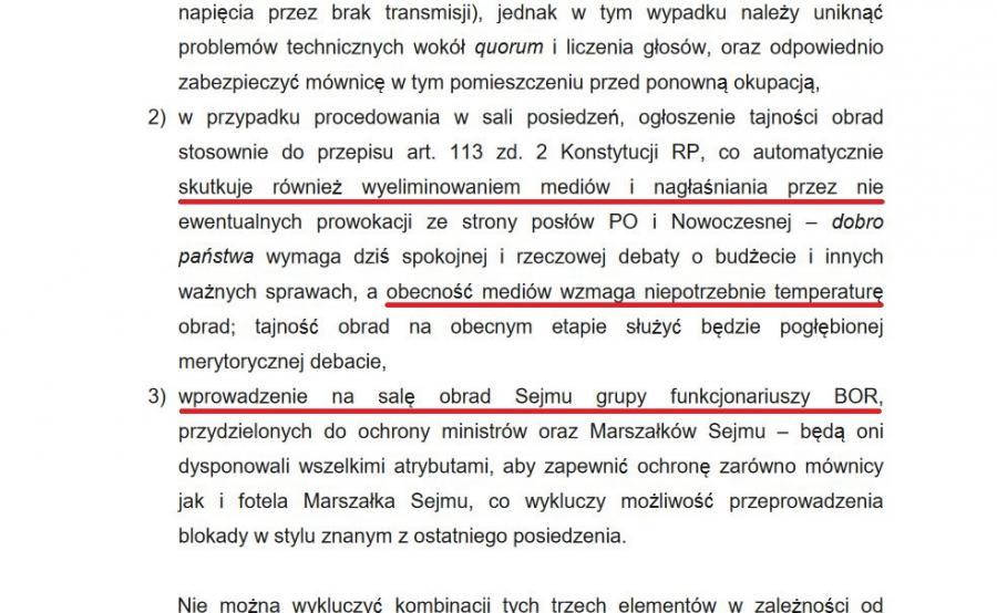 Ekspertyza prawna dotycząca rozwiązania kryzysu w Sejmie