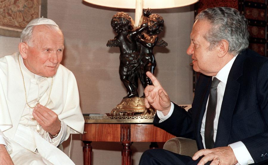 Jan Paweł II i Mario Soares