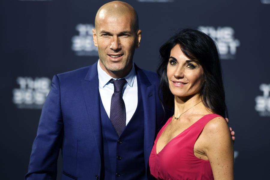Zinedine Zidane i jego żona, Veronique