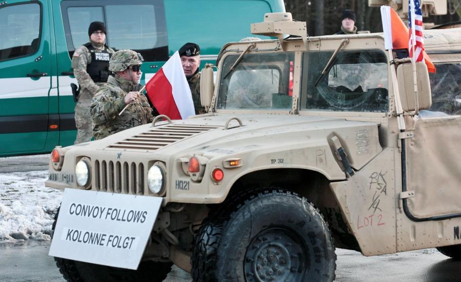 Żołnierze amerykańskiej Pancernej Brygadowej Grupy Bojowej (ABCT - Armored Brigade Combat Team)
