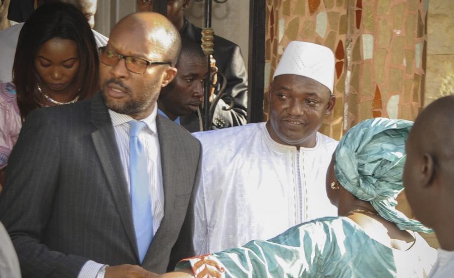 Prezydent-elekt Gambii Adam Barrow