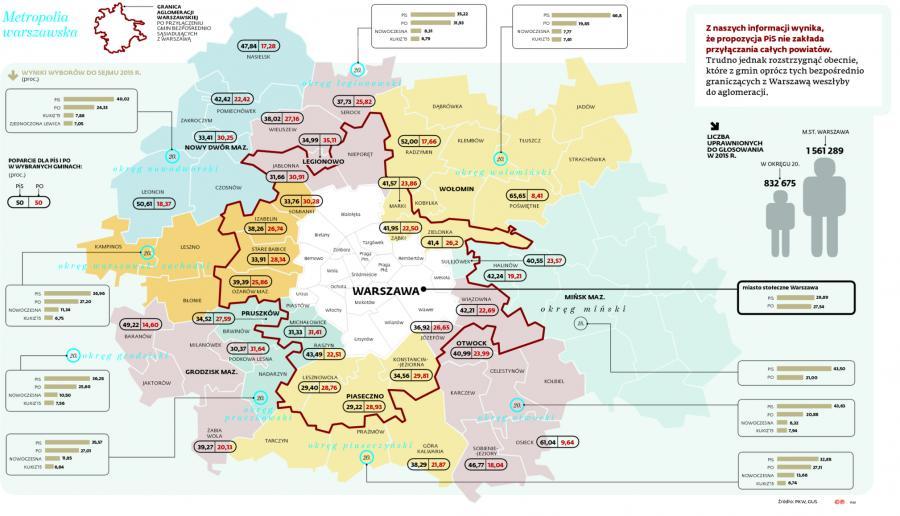 Mapa planowanych zmian