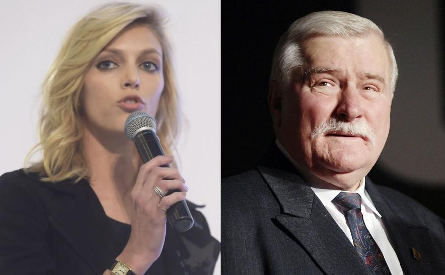 Anja Rubik, Lech Wałęsa