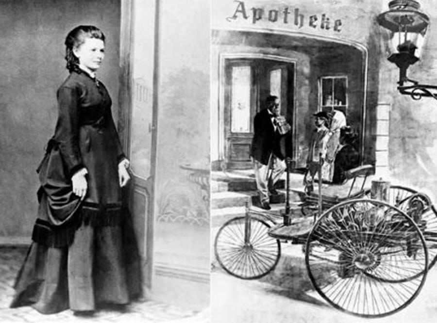 Pierwszym osobą, która odbyła podróż samochodem była… kobieta
