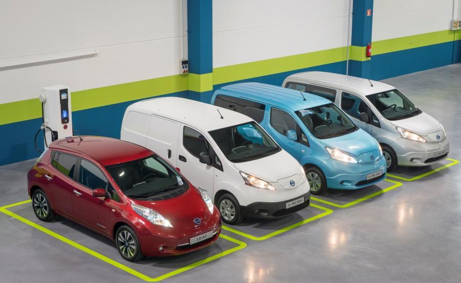 Nissan leaf i trzy e-NV200