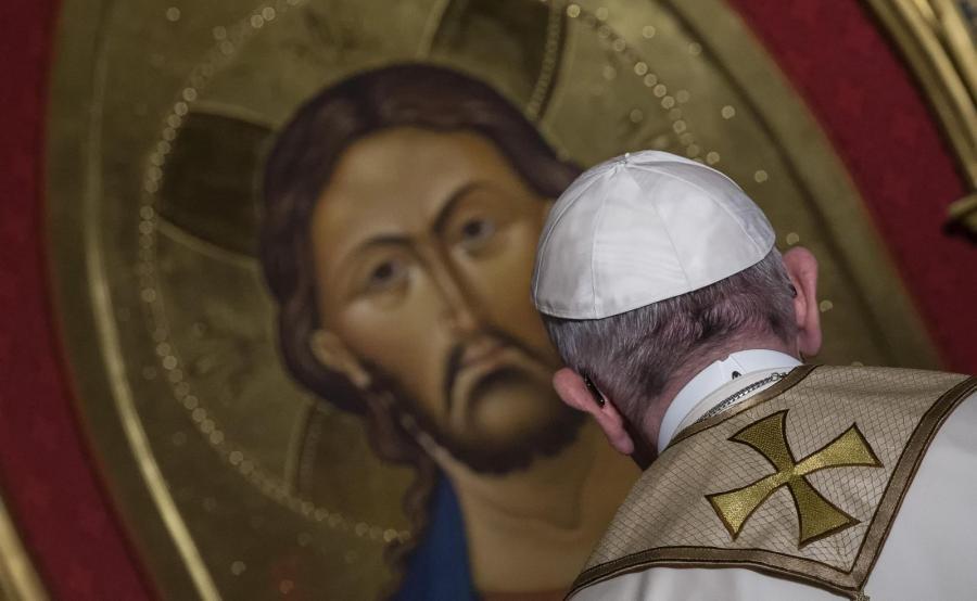 Papież Franciszek odwiedza kościół anglikański w Rzymie