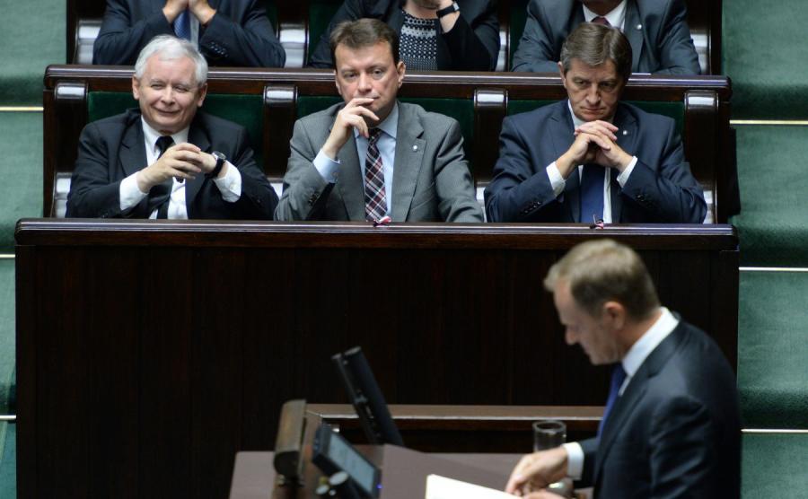 Jarosław Kaczyński i Donald Tusk w Sejmie