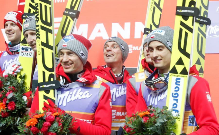 Kamil Stoch, Piotr Żyła, Maciej Kot i Dawid Kubacki