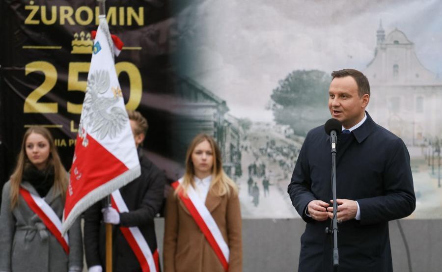 Prezydent Andrzej Duda w Żurominie